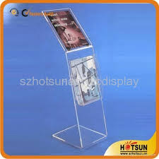 Acrylic Flyer Display Stand Acrylic Brochure Holdermagazine Display Stand HS100 HOTSUN 32