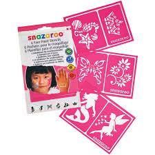 snazaroo face painting stencils 6 pkg girls u0027 fantasy