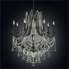 crystal chandelier black black iron chandelier beaded chandelier cau chic celeste 32 inch flush mount glass