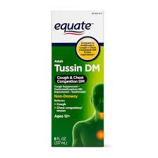 Equate Tussin Dm Cough Chest Congestion Dm Relief 8 Fl Oz Walmart Com