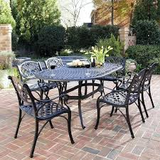 wrought iron patio furniture table chairs with 6 and umbrella