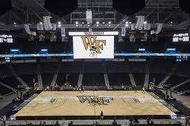 the old court at the joel coliseum below the new scoreboard brian westerholt winston m journal wake forest s basketball