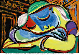 artwork pablo picasso jeune fille endormie 1935 translates as young girl asleep a portrait of the famous spanish artists lover marie therese walter