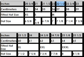 New Era Size Chart Us Cap Size Charts