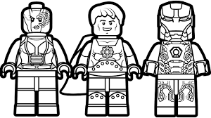 Small Picture Lego Iron Man vs Lego Hyperion vs Lego Nebula Coloring Book