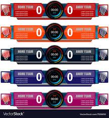 Scoreboard Template Scoreboard Template For Sport Royalty Free Vector Image 2