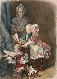 mozart and his sister at the piano