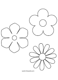 Flowers Templates Spring Flower Template Easter Template Flower Template