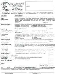 bid form example template lawn care bid template maintenance proposal landscaping