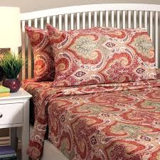 living quarters bedding sheets company red color sheet set