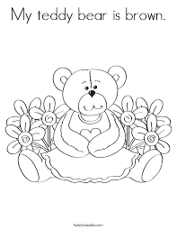 Small Picture Bear Coloring Pages Twisty Noodle