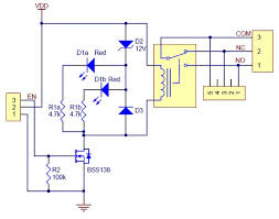 pololu basic spdt relay carrier for sugar cube relays schematic diagram for the pololu basic spdt relay carrier