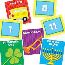 Carson Dellosa Deluxe Calendar Pocket Chart 101 Items 1