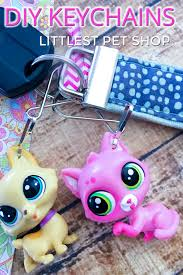 diy littlest pet keychains zipper pulls