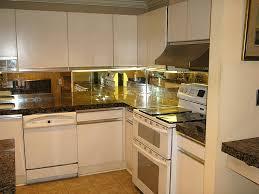 Mirrored Backsplash In Kitchen Mirrored Kitchen Cabinets With Regard To Your Home