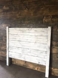 shiplap headboard distressed white wood headboard painted headboard