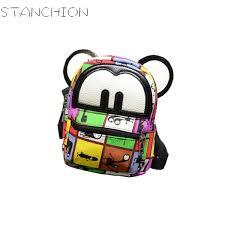<b>STANCHION New Fashion</b> Women Backpack Mini Cute Ears Priting ...