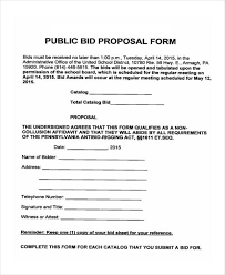 bid form example 9 bid proposal form samples free sample example format download