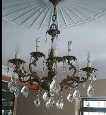 brass crystal chandelier