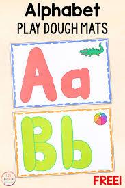 Free Printable Alphabet Play Dough Mats