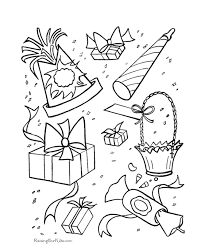Coloring Pages Birthday Party Decorations Coloring Pages For All
