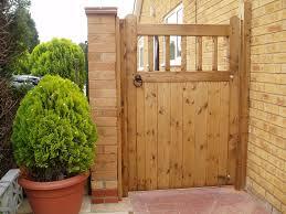 image of basic wooden gate designs