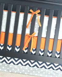 orange crib bedding orange crib skirt crib bedding set orange navy blue gray nursery bedding per
