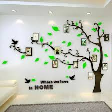 family silver tree wall decals 3d diy