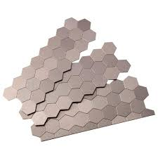 12 X 12 Decorative Tiles Aspect Honeycomb Matted 100 in x 100 in Metal Decorative Tile 52