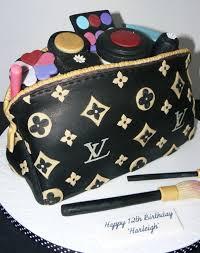 louis vuitton makeup cake