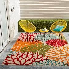 nourison aloha floral green indoor outdoor rug 7u0026x2710 x 10u0026 7 10 outdoor rug g76