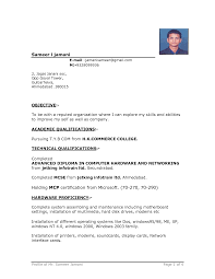 Resume format Download Word File