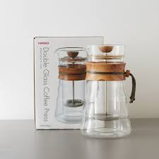 harioolivewoodfrenchpress the budget barista double walled glass french press