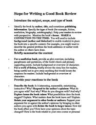 How To Write A Good Book Review Steps For Writing A Good Book Review