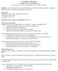 Cv For Teacher Resume Music Teacher Sample Objective Format For In Indian School Cv