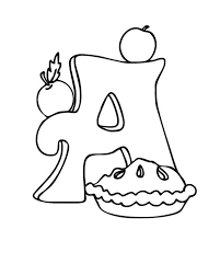 Small Picture Letter a coloring pages apple pie ColoringStar
