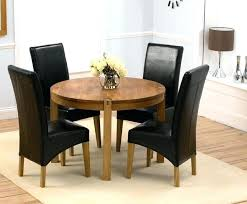 small round dining room table