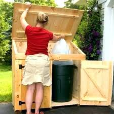 garbage shed outdoor garbage can storage shed home depot