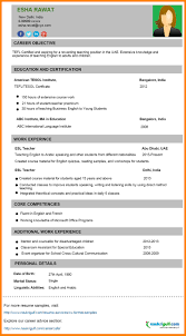 6 How To Write Resume For Teaching Job Emt A English In Korea Sevte