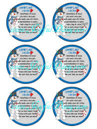 labels 6 per page snowflake cocoa digital labels gift tags joyful daisy