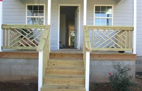 patio railing ideas small home front