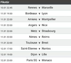 Futbol - Fransa Ligue 1 19.Hafta Sonuçları , Gelecek Hafta Maçları Puan  Durumu , Gol Krallığı Ve Haftanın Takımı - Bahislokal