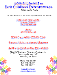 Home Daycare Flyers Child Care Brochure Template School Free
