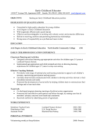 ... Early Childhood Education Resume 8 Early Childhood Educator Resume  Samples Will Give Ideas And Provide As ...