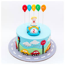 2 Year Birthday Themes Car Cake For A 2 Year Old Boy Pera Cakery Cakes Pinterest