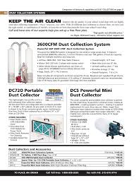 Dust Collector Cfm Chart Dc5 Powerful Mini Dust Collector Dc72o Portable Dust