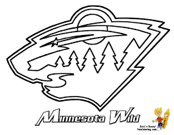 15 Minnesota Wild Hockey At Coloring Pages Book For Kids Boys With