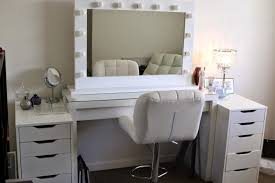 attractive inspiring vanity sets lights set white ikea makeup vanity set with lighting and leather chair