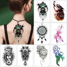 Glaryyears 17 Designs 1 Sheet Wx временная татуировка наклейка для женщин мужчины тело рукоятка