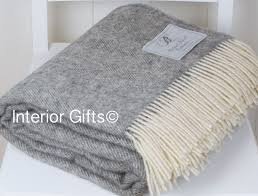 details about bronte grey herringbone throw natural undyed pure new shetland wool picnic rug